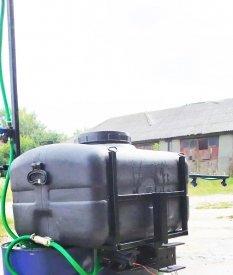 Опрыскиватель на мотоблок, мототрактор навесной 105 литров (штанга 6 метров)